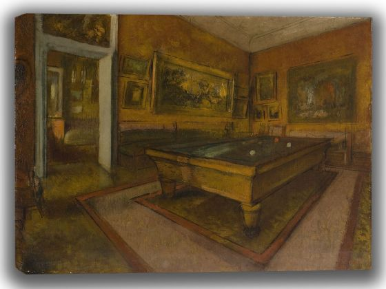 Degas, Edgar: Billiard Room at Ménil-Hubert. Fine Art Canvas. Sizes: A4/A3/A2/A1 (003740)